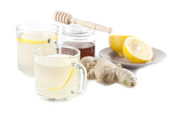 Ginger tea with honey and lemon Royalty Free Stock Photos