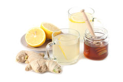 Ginger tea with honey and lemon Stock Image