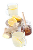 Ginger tea with honey and lemon Stock Photography