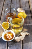 Ginger tea with honey and lemon Royalty Free Stock Photo
