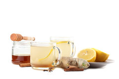 Ginger tea with honey, lemon and spices Stock Image