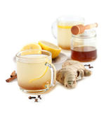 Ginger tea with honey, lemon and spices Royalty Free Stock Photography