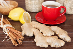 Ginger tea. Ingredients still life stock photography