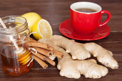 Ginger tea. Ingredients still life royalty free stock images