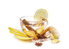 Ginger tea  isolated on white background Stock Photos