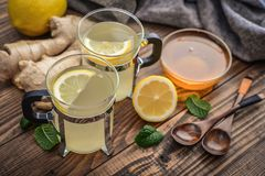Ginger tea with lemon Royalty Free Stock Photography
