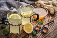 Ginger tea with lemon Stock Photography