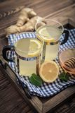 Ginger tea with lemon Stock Images