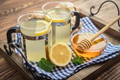 Ginger tea with lemon Royalty Free Stock Images