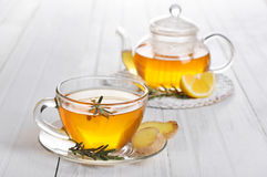 Ginger tea with lemon Royalty Free Stock Photos