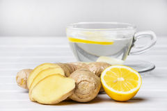 Ginger tea with lemon Royalty Free Stock Image