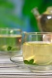 Ginger tea with mint Stock Images
