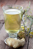 Ginger tea with spoon Stock Photo