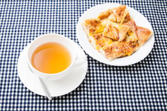 Ginger tea in white cup Royalty Free Stock Image
