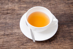 Ginger tea in white cup Stock Photography