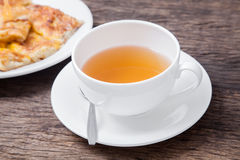 Ginger tea in white cup Royalty Free Stock Photos