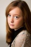 Ginger Teenage Girl en el estudio Imagen de archivo libre de regalías