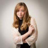 Ginger Teenage Girl en el estudio Imágenes de archivo libres de regalías
