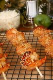 Ginger Teriyaki Shrimp Kebabs Royalty Free Stock Photos