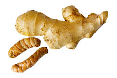 Ginger and Turmeric Royalty Free Stock Images
