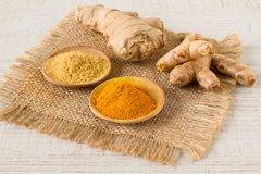 Ginger and turmeric Royalty Free Stock Photos