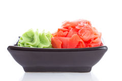 Ginger and wasabi isolated Royalty Free Stock Photography
