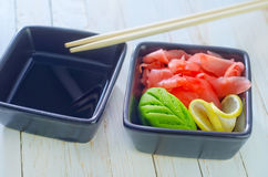 Ginger and wasabi Royalty Free Stock Photo