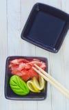 Ginger and wasabi Stock Photos