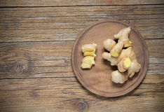 Ginger on wood Stock Image