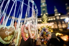 Gingerbrad at the Vienna Christmas Market in Austria, December 2. 016 Stock Photography