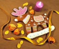 gingerbread оленей Стоковые Изображения