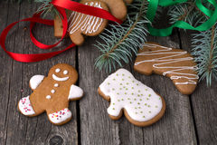 gingerbread печений домодельный Стоковое фото RF