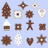 gingerbread печений рождества сделал помадки дворца Стоковое Изображение RF