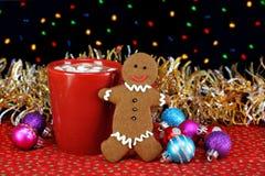 gingerbread печенья какао стоковое изображение