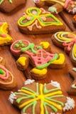 Gingerbread, печенья рождества, предпосылка Стоковая Фотография RF
