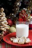 Gingerbread рождества с молоком Стоковое Изображение RF
