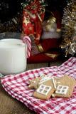 Gingerbread рождества с молоком Стоковое фото RF
