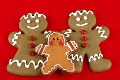 gingerbread семьи Стоковая Фотография RF