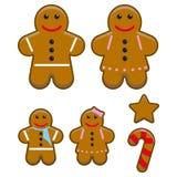 gingerbread семьи Стоковое Фото