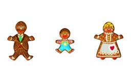 gingerbread семьи Стоковая Фотография