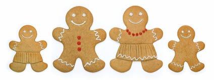 gingerbread семьи Стоковые Фото