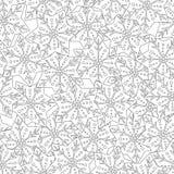 gingerbread Черно-белая иллюстрация для книжка-раскраски или страницы Рождество, предпосылка праздника Стоковое фото RF
