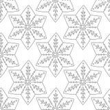 gingerbread Черно-белая иллюстрация для книжка-раскраски или страницы Рождество, предпосылка праздника Стоковое Изображение