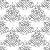 gingerbread Черно-белая иллюстрация для книжка-раскраски или страницы Рождество, предпосылка праздника Стоковое Изображение RF