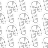 gingerbread Черно-белая иллюстрация для книжка-раскраски или страницы Рождество, предпосылка праздника Стоковая Фотография