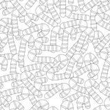 gingerbread Черно-белая иллюстрация для книжка-раскраски или страницы Рождество, предпосылка праздника Стоковая Фотография RF