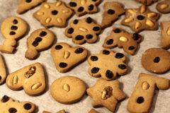 Gingerbread. Many gingerbreads in different figures Stock Image