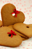 Gingerbread. Hearts for san valentine or christmas decoration Royalty Free Stock Photo