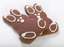 gingerbread 2 зайчиков Стоковое Фото