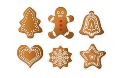 gingerbread изолировал Стоковые Фотографии RF